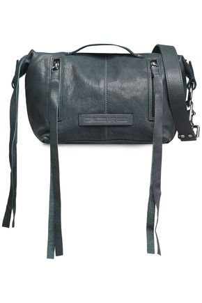 McQ Alexander McQueen Textured-leather shoulder bag