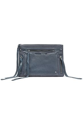 McQ Alexander McQueen Loveless fringed brushed-leather pouch