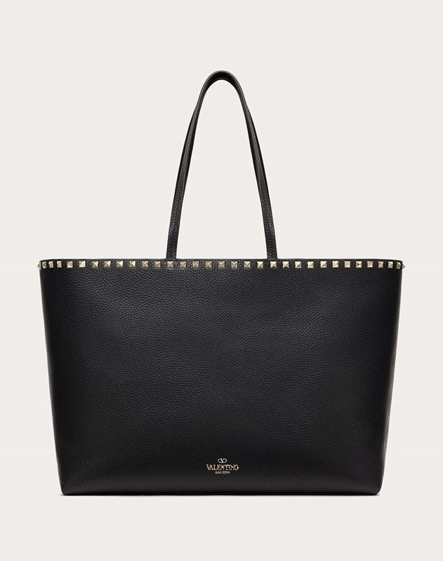 Rockstud Grainy Calfskin Shopper