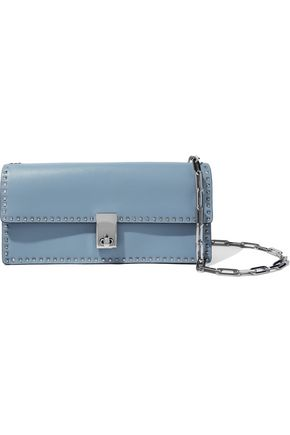 VALENTINO GARAVANI Rockstud leather clutch