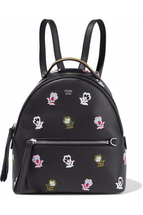 FENDI Embroidered leather backpack