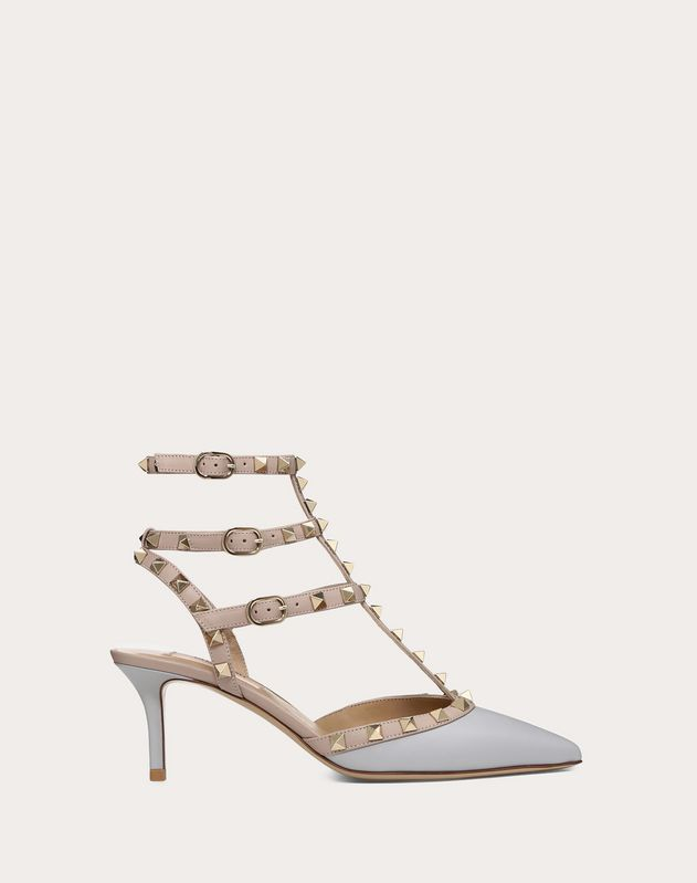 Rockstud ankle strap pump 65 mm