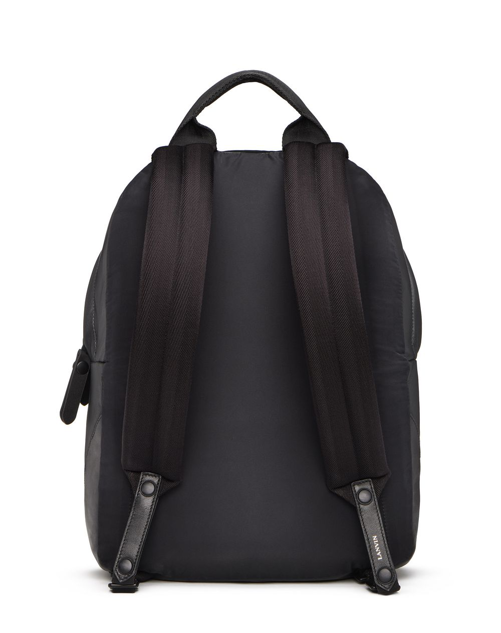 BLACK LEATHER BACKPACK  - Lanvin