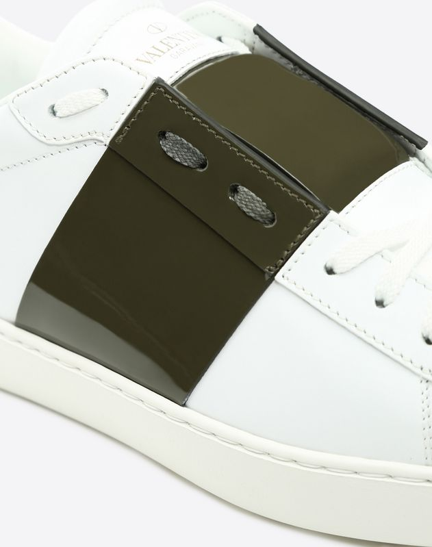 Open小牛皮运动鞋 白色