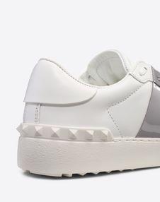 Open Sneaker with Calfskin Stripe