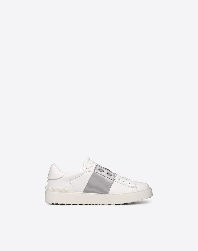 Open Sneaker with Calfskin Stripe
