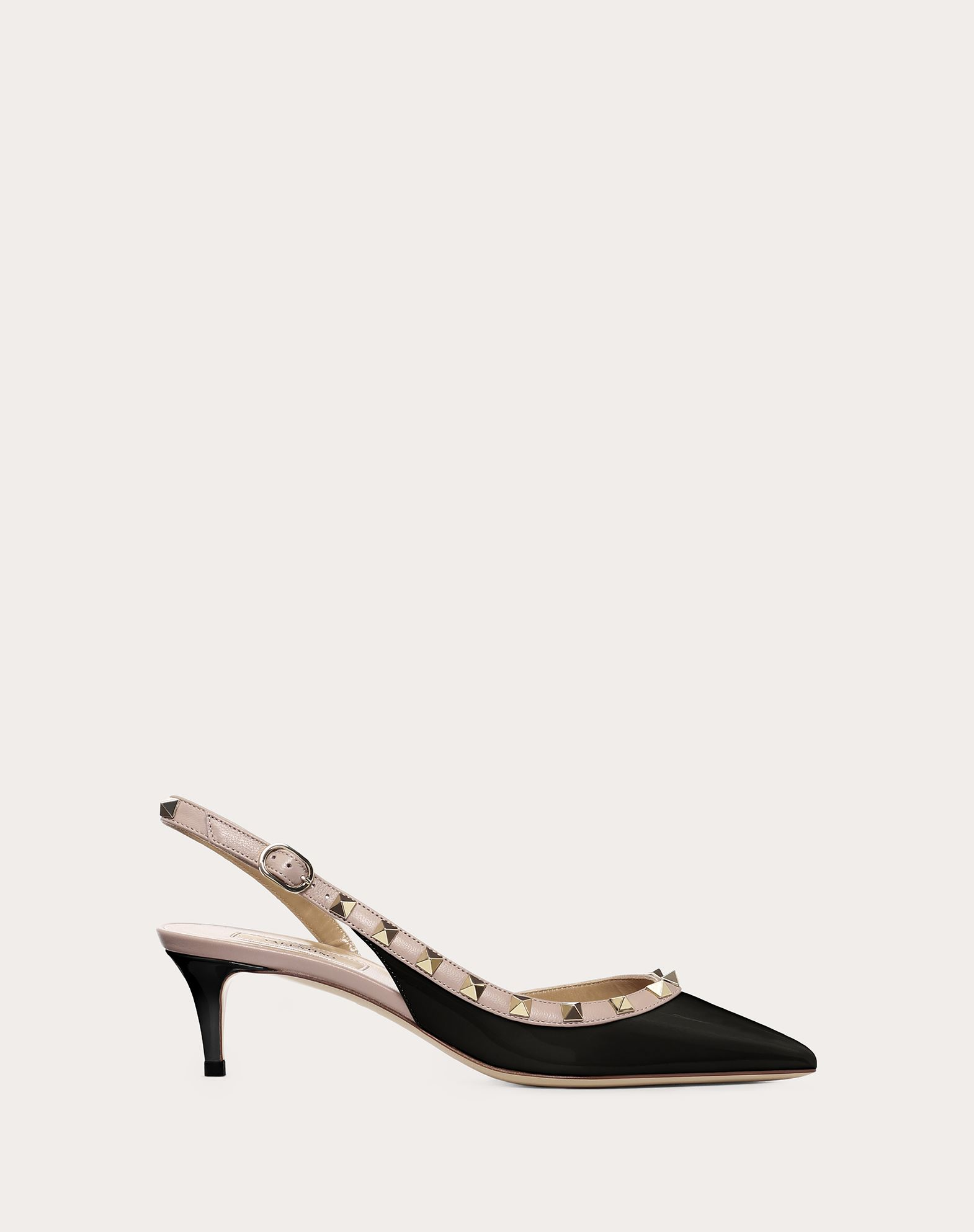 Rockstud Patent Leather Slingback Pump 50 mm