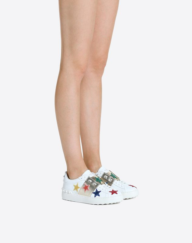 Open Sneaker with Embroidered Stars