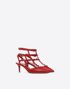 Lacquer studs Rockstud caged Pump 65mm