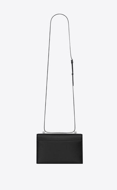 SAINT LAURENT Babylone Small Woman small babylone satchel in smooth black leather b_V4