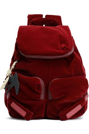SEE BY CHLOÉ Joyrider velvet backpack