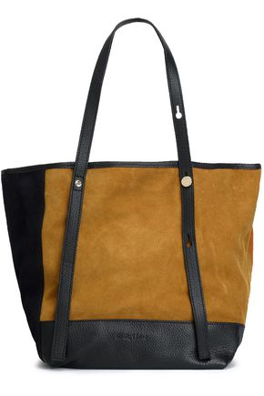 SEE BY CHLOÉ Andy color-block suede tote
