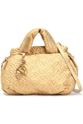 SEE BY CHLOÉ Joyrider Bisou quilted metallic shell shoulder bag