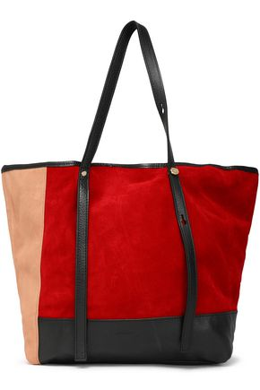 SEE BY CHLOÉ Andy leather-trimmed two-tone suede tote