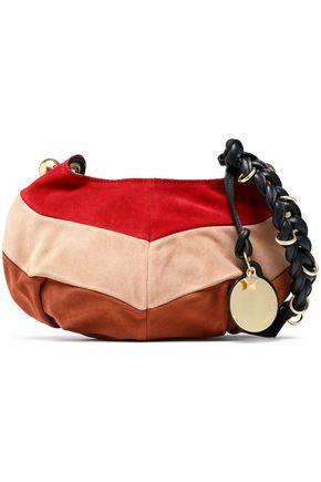 SEE BY CHLOÉ Madie color-block suede shoulder bag