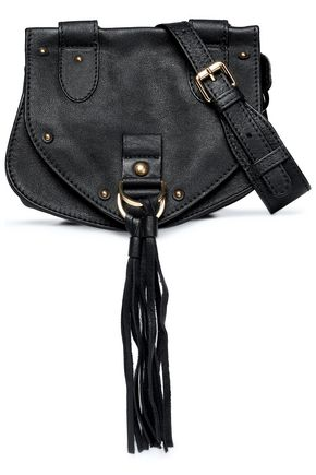 SEE BY CHLOÉ Collins tasseled brushed-leather shoulder bag