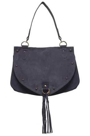 SEE BY CHLOÉ Collins medium suede and textured-leather shoulder bag