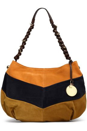 SEE BY CHLOÉ Maddie color-block suede shoulder bag