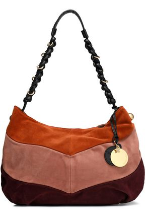 SEE BY CHLOÉ Maddie color-block suede shoulder bag