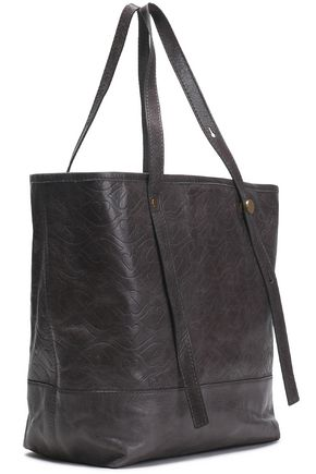 SEE BY CHLOÉ Andy Bisou embossed brushed-leather tote