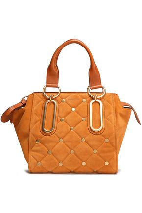 SEE BY CHLOÉ Studded quilted suede shoulder bag