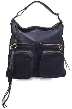 SEE BY CHLOÉ Patti leather-trimmed suede tote