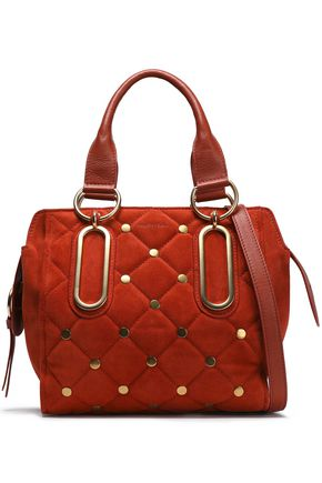 SEE BY CHLOÉ Paige studded quilted suede shoulder bag