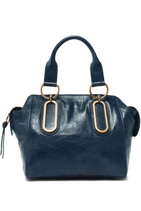 SEE BY CHLOÉ Cracked-leather shoulder bag