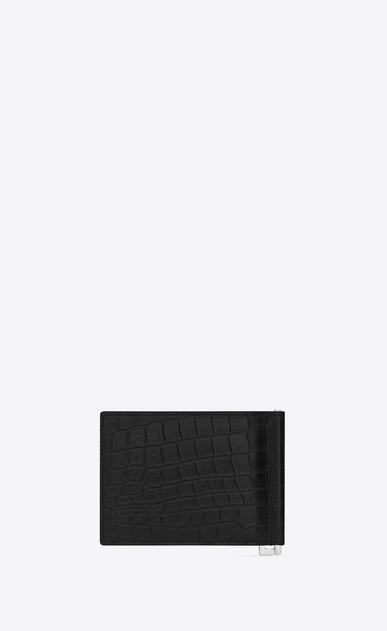 SAINT LAURENT ID SLG Uomo portafogli id con portasoldi nero in coccodrillo stampato b_V4