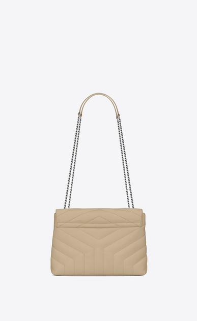 "SAINT LAURENT Monogramme Loulou Woman small loulou bag in powder ""y"" matelassé leather b_V4"