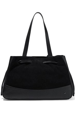 HALSTON HERITAGE Suede and textured-leather tote