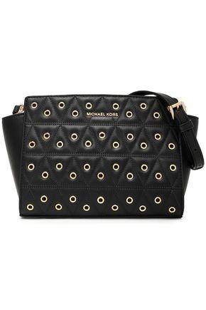 MICHAEL MICHAEL KORS Embellished quilted leather shoulder bag