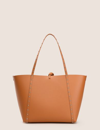 MEDIUM STUDDED STRAP TOTE