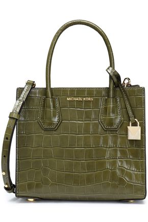 MICHAEL MICHAEL KORS Croc-effect leather shoulder bag