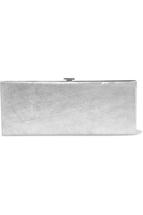 HALSTON HERITAGE Metallic leather clutch