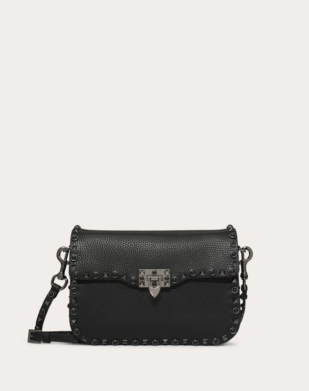 e52ead5ebf7 Valentino Garavani Rockstud calfskin crossbody bag for Woman ...