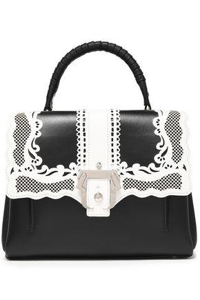 PAULA CADEMARTORI Laser-cut leather shoulder bag