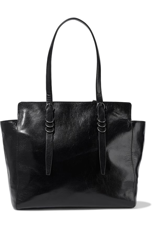 c2a47ee198 Ring-embellished textured-leather tote