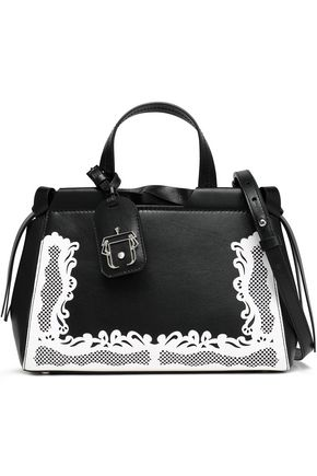 PAULA CADEMARTORI Laser-cut leather shoulder bag
