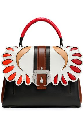 PAULA CADEMARTORI Petite Faye paneled leather shoulder bag