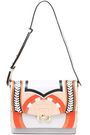 PAULA CADEMARTORI Twiggy printed leather and suede shoulder bag