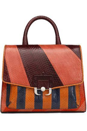 PAULA CADEMARTORI Color-block python shoulder bag