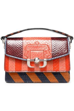 PAULA CADEMARTORI Twi Twi paneled striped python shoulder bag