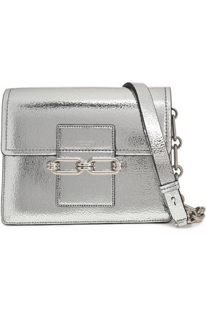 MICHAEL KORS COLLECTION Cate cracked mirrored-leather shoulder bag