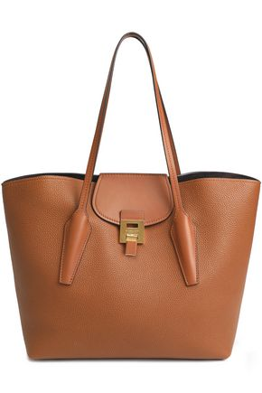 MICHAEL KORS COLLECTION Bancroft smooth and pebbled-leather tote