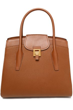 MICHAEL KORS COLLECTION Smooth and textured-leather tote