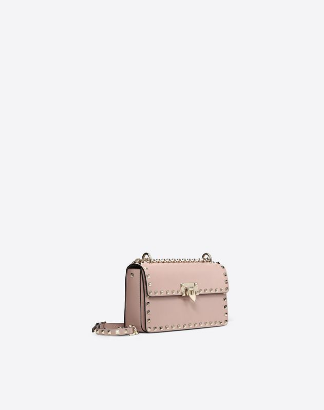 Navy Rockstud Sliding Chain Bag
