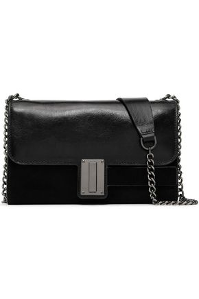 HALSTON HERITAGE Leather and suede shoulder bag