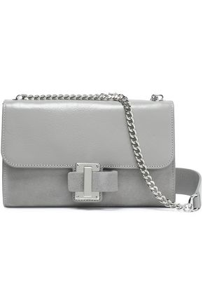 HALSTON HERITAGE Textured-leather and suede shoulder bag