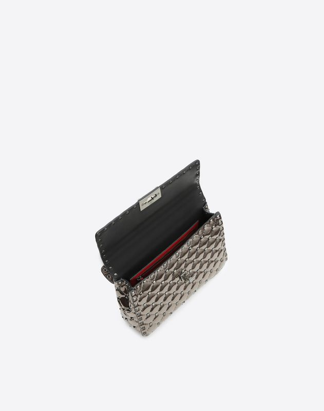 Borsa Media con Catena Rockstud Spike